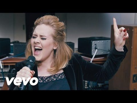 Adele - When We Were Young (Live at The Church Studios) - YouTube (My favourite song from her new album)