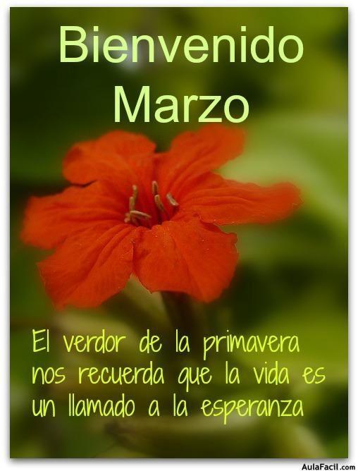 Pensamiento Positivo: Bienvenido Marzo - Mientras haya en el mundo primavera, ¡habrá poesía!..
