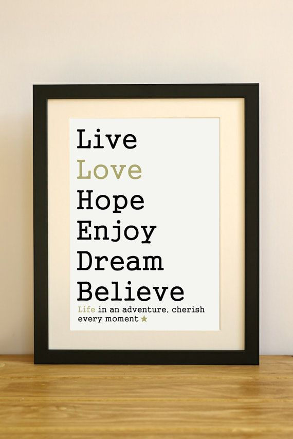 Inspirational motivational art print. Modern par AlwaysSparkleArt