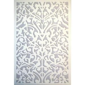 Acurio Latticeworks, 1/4 in. x 32 in. x 4 ft. White Ginger Dove Vinyl Decor Panel, 3248PVCW-GNDV at The Home Depot - Mobile
