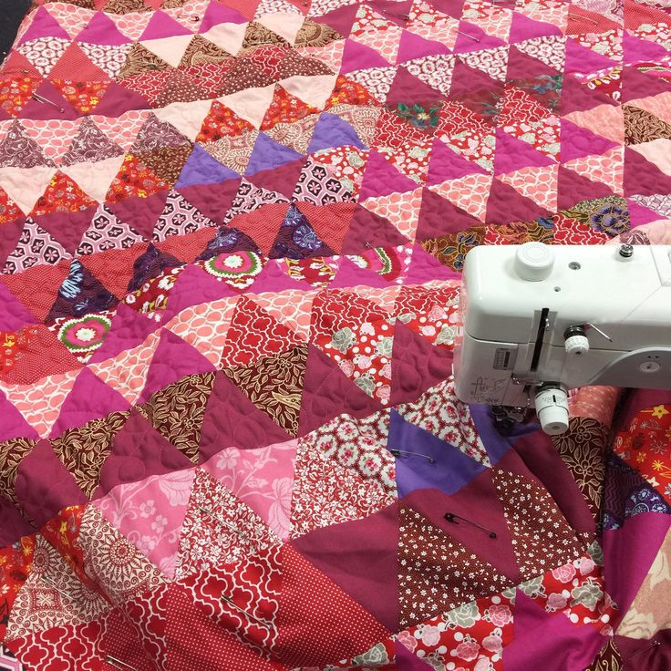 """Quilting a new triangle quilt """"Scent of Orient"""" Perfect for Christmas Gift🎄🎄🎄🎄"""