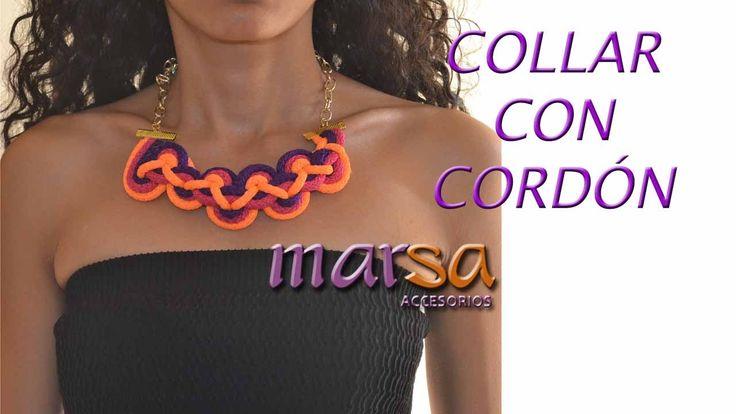 DIY - BISUTERÍA  DE MODA- Original Collar Cordón