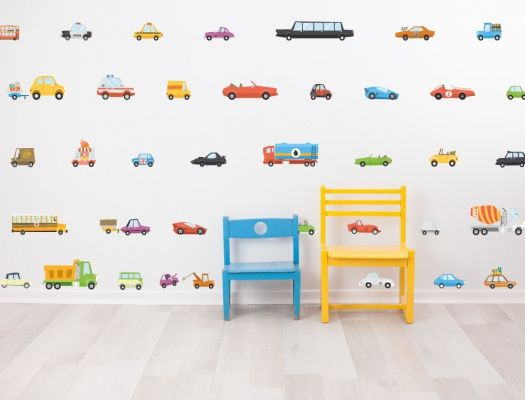 Unique Gro fl chiges Wandsticker Set mit Autos f r das Babyzimmer