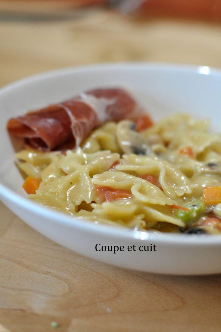 One pot pasta aux légumes et au gorgonzola