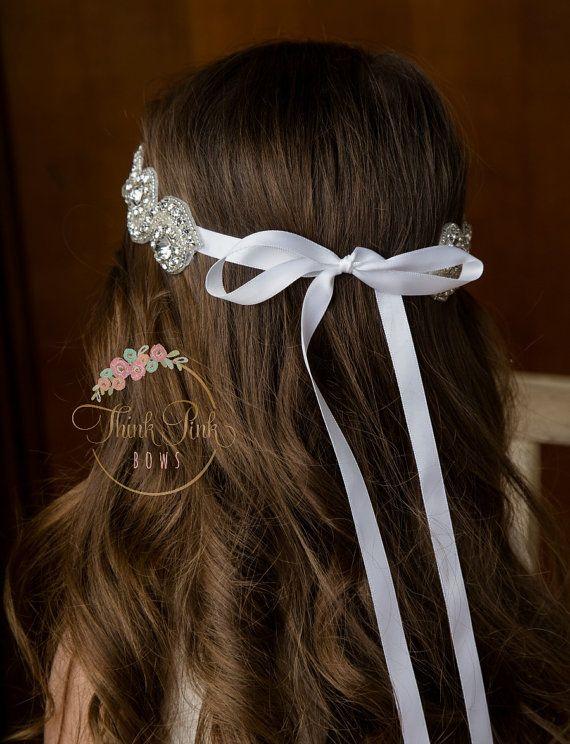 Diadema de diamantes de imitación venda de la muchacha de