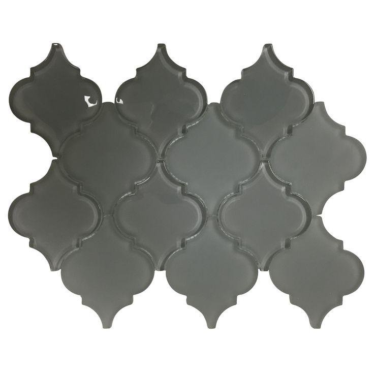 Bestview Grey Lantern Mosaic Gl Wall Tile Common X Actual