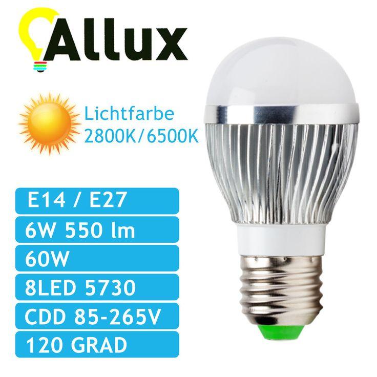 E14 E27 6W Neue #LED #Lampe #BULB ALU 6W mit CCD #Spannungswandler in Möbel & Wohnen, #Beleuchtung, #Leuchtmittel | eBay!
