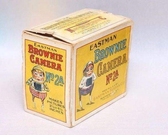 1926 Kodak Brownie # 2A Cardboard Box - great graphics & display piece