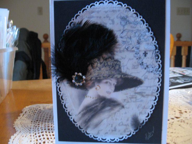 Mes Cartes Olie, femme avec plume
