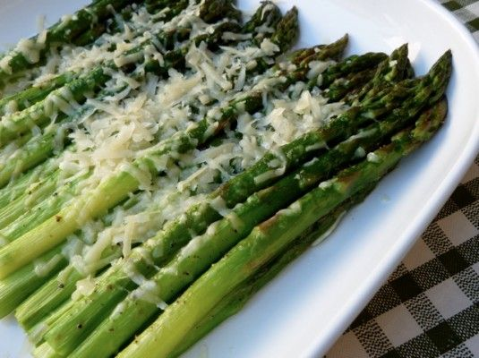 Parmesan Roasted Asparagus - Weight Watchers Recipes with Points Plus