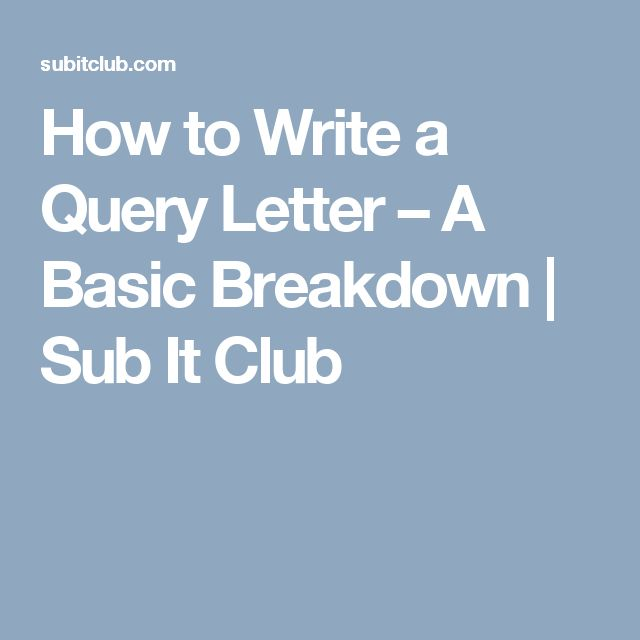 218 best Submissions, Queries, Cover Letters and More images on - query letter example