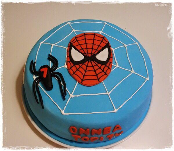Spiderman kakku / spiderman cake