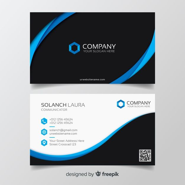 Colorful Business Card Template Free Vector Business Cards Creative Templates Business Cards Creative Graphic Design Business Card