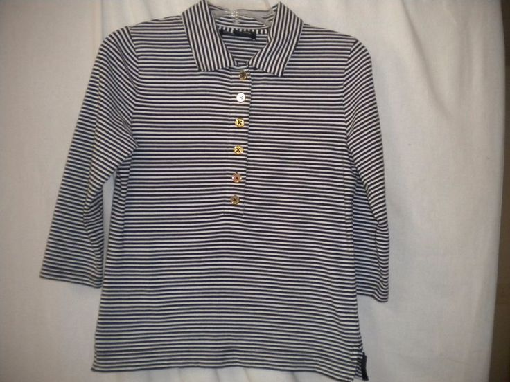 Jones New York Signature Size Small Black White Nautical Womens Top Shirt  #JonesNewYorkSignature #Top #Versatile
