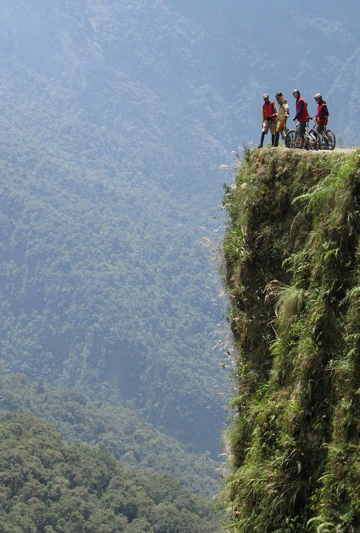 The South American Highway to Hell, The so-called Carretera de la Muerte is one of the few communications between the Amazon rainforest and the northern Bolivian region, known as Yungas