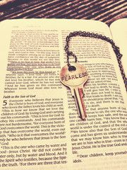 FEARLESS pendant from The Giving Keys