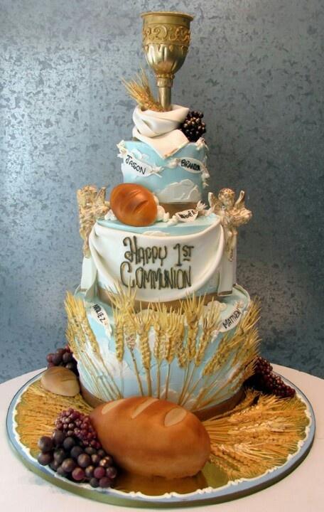 Hugo Cake Artist : First Communion cake art A Catholic First Communion ...