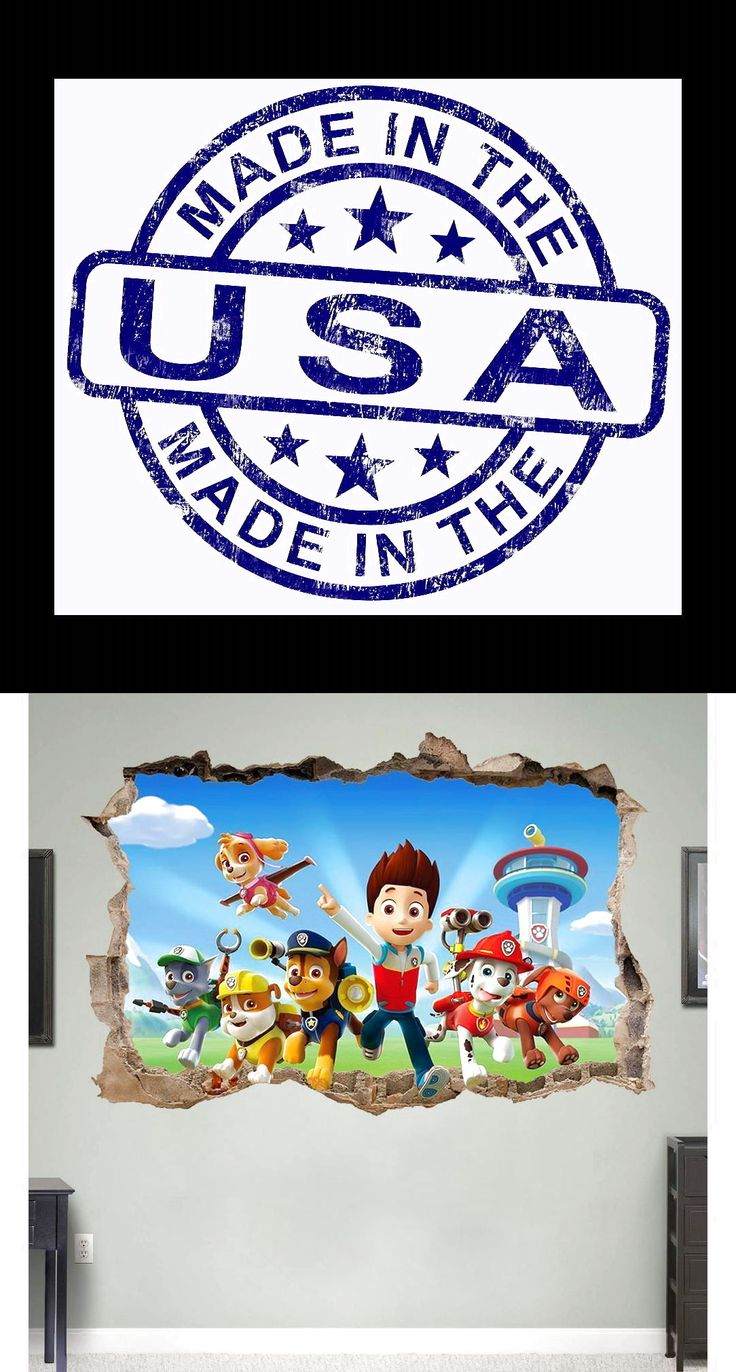 PAW PATROL 3D WALL STICKER SMASHED BEDROOM BORKEN decor Removable ART KIDS DECAL $6.99