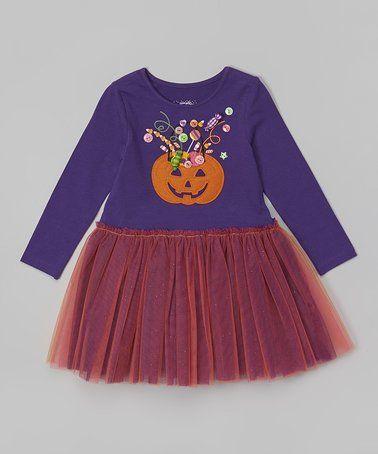 Loving this Purple & Pink Pumpkin Tutu Dress - Infant & Toddler on #zulily! #zulilyfinds