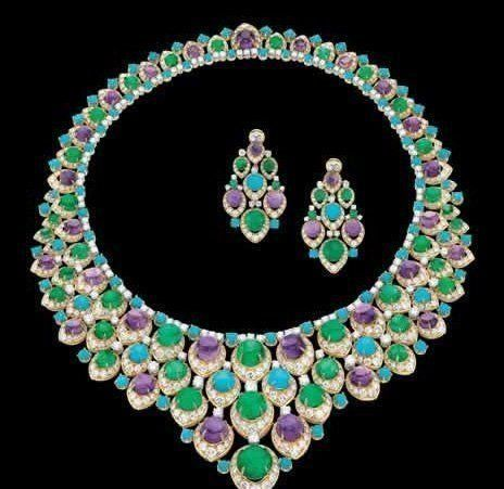 Bulgari Amethyst, Emeralds and Persian Turquoise