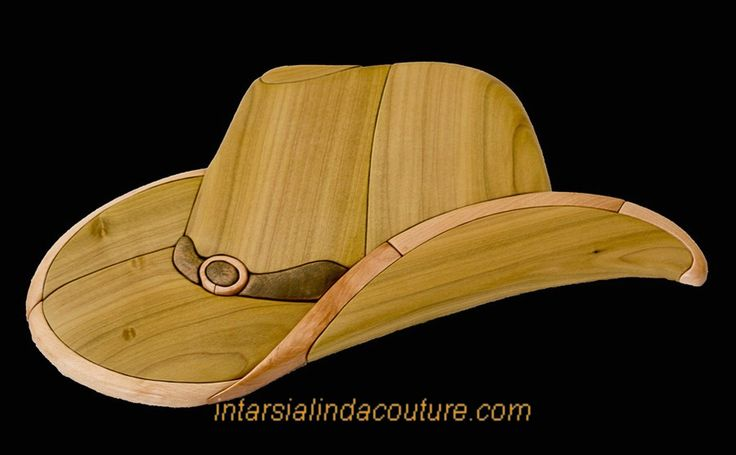 Linda offers one free intarsia pattern on her intarsia pattern and project sales website. It is a 15 piece intarsia cowboy hat. http://intarsialindacouture.com/ http://intarsialindacouture.com/presentation-des-patrons-intarsia/patron-intarsia-chapeau-de-cowboy-gratuit/ For Sale: http://intarsialindacouture.com/produits/ #intarsia #freepatternsforwoodworking #plansforsale Intarsia Linda Couture of Quebec, Canada #scrollsawpatternsandprojects