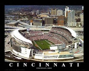 Cincinnati Bengals - Paul Brown Stadium - 22x28 Aerial Photograph