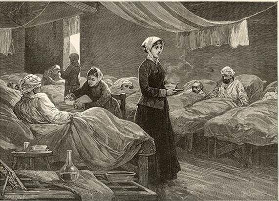 La historia contada de Florence Nightingale, pionera de la enfermería moderna.   Matemolivares