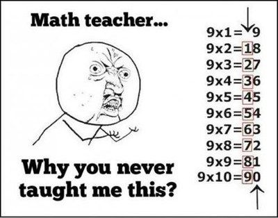 Because You Have a Terrible Math Teacher