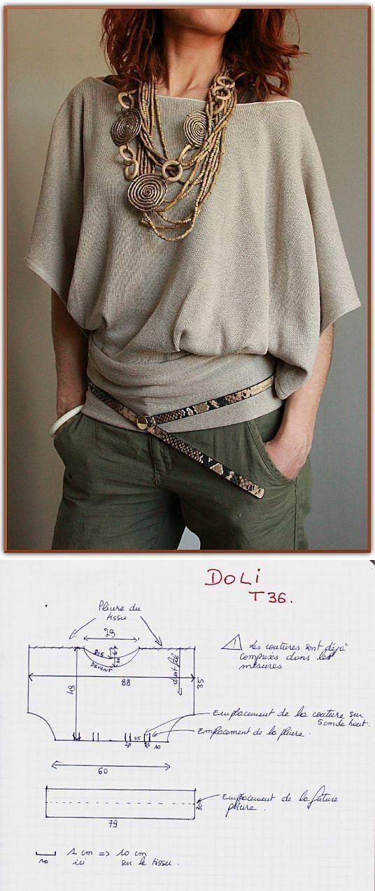 DIY Womens Clothing : Невероятно простая кофта (выкройка) / Просты