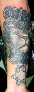 POWER DRAGON TATTOO: Leão e estrela de Davi