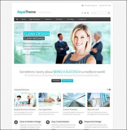 aqua-responsive-multipurpose-wordpress-template
