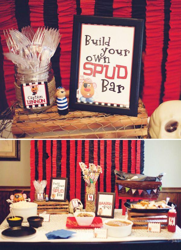Creative Mr. Potato Head Pirate Party