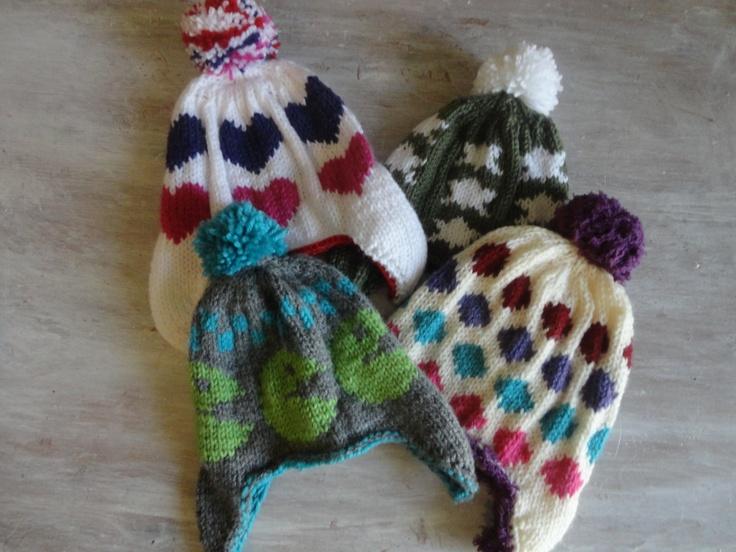 bonnets péruviens enfants