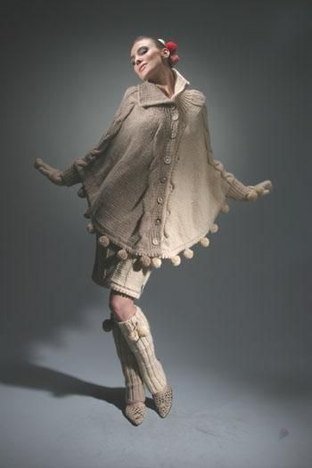 Designer Poncho? Why yes I would love to wear that out on an evening stroll past the Seine, merci!