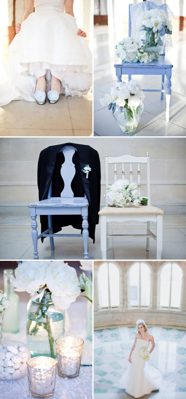 I love the bride and groom chair picture!