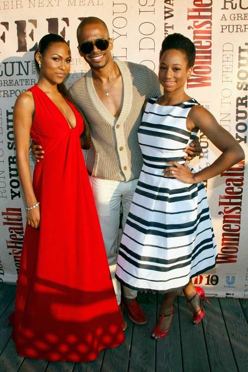 """Actress Tashiana Washington, actor Eric West, and actress Monique Coleman at the second annual #Run10Feed10 """"Under the Stars"""" party at the Bridgehampton Surf & Tennis Club. More photos: http://www.womenshealthmag.com/life/hamptons-kickoff-party?cm_mmc=Pinterest-_-WomensHealth-_-content-life-_-hamptonsparty"""