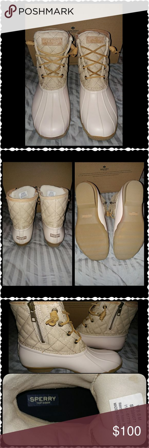 NWOT: Sperry Top-Sider Boots: New In Box (box does not have a top):  Sperry Top-Sider Saltwater Duck Boot. This Sperry Boot has a non-marking rubber outsole with slip resistance.  Reasonable Offers Accepted When Made.  ** Next Day Shipping ** Shoes