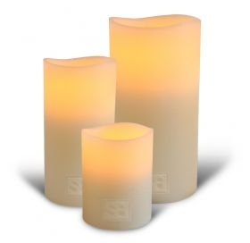 Shaynna Blaze Classic Ivory Flameless Wax Candles from Urban Spice