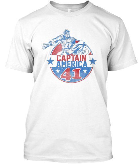 Captain American 41 T Shirt White T-Shirt Front
