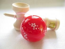 New red sakura kendama