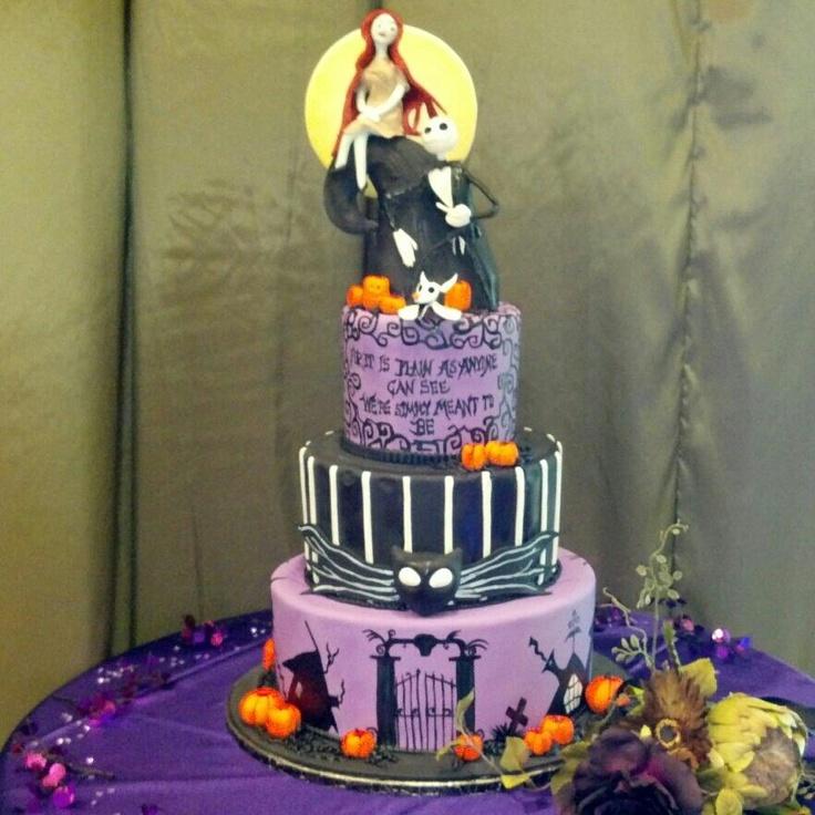 Jack And Sally Wedding Fall And Halloween Cakes