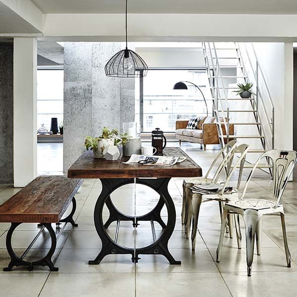 Create An Industrial But Livable Vibe With The Hyatt Canning Table And  Chairs.