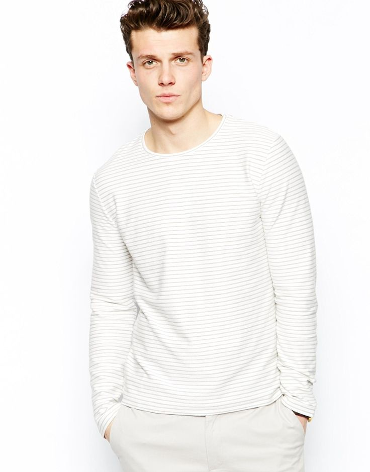 Reiss Long Sleeve Stripe T-Shirt