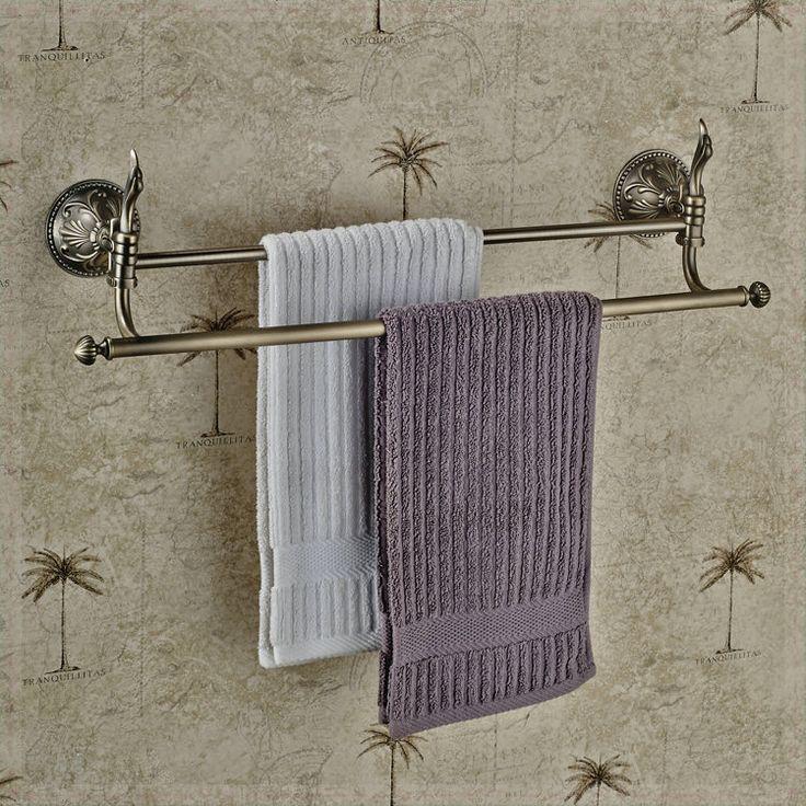 Купить товарВанная комната настенное крепление вешалка для полотенец двойное адвокатское сословие полотенца античная бронзовая сенсорный кран стиральная машина в категории Вешалки для полотенецна AliExpress.            &