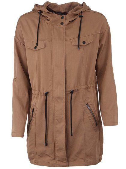 Hnedá parka s kapucňou Vero Moda Drapy 71,95€ -> 35,95€