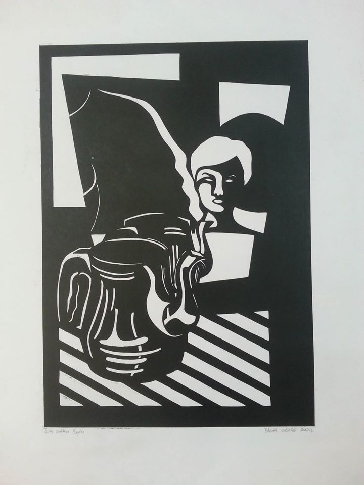 Stencil on paper  70x50cm, 2004. #printmaking #printmaker #stencil #art #artwork #artist #baskıresim #şablon #baskı