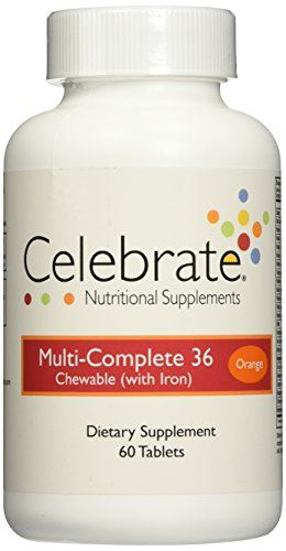 Celebrate MultiComplete Chewable Vitamin w Iron Orange 60 ct ** Check out this great product.Note:It is affiliate link to Amazon.