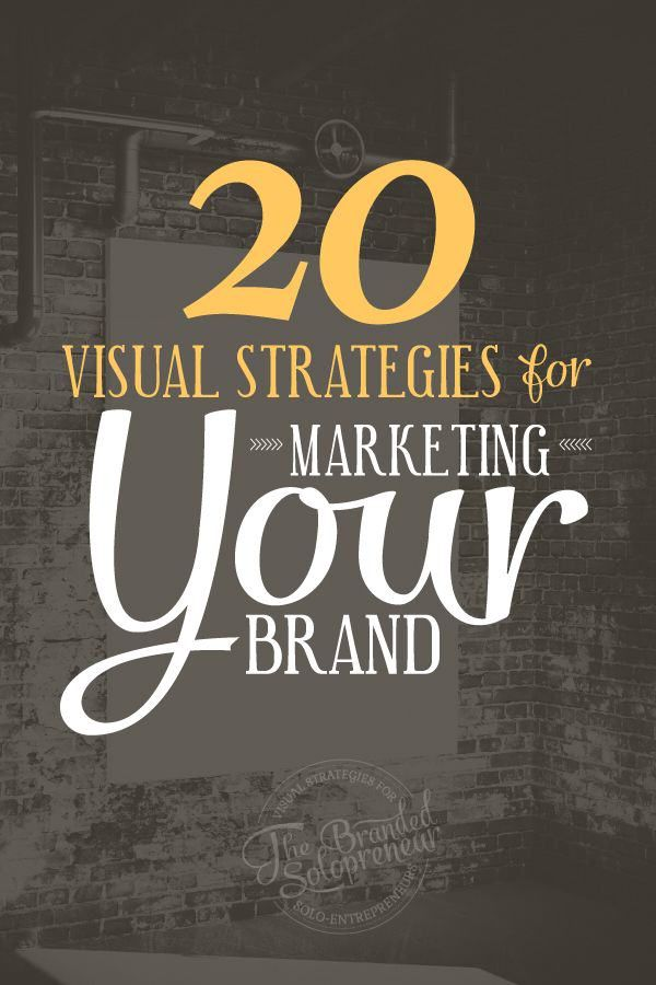 20 estrategias para usar #Marketing con tu marca.