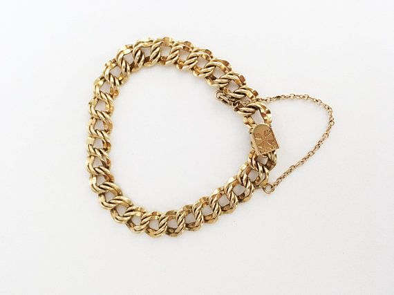 Winard 12k Gf Double Link Curb Chain Vintage 1940s 1950s 12 Solid Gold Jewelry Gold Filled Jewelry Fine Jewelry Stores