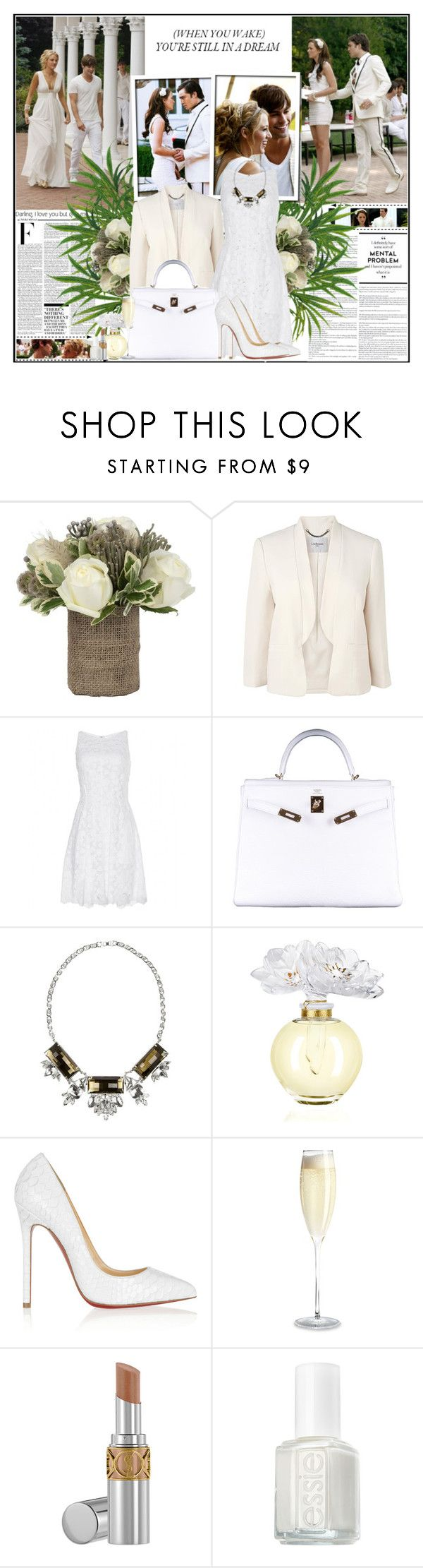 """""""05/08/2014 That I'm not a princess, this ain't a fairytale, I'm not the one you sweep off her feet, lead her up the stairwell."""" by thefrenchfashionista ❤ liked on Polyvore featuring Avenue, Nicki Minaj, Episode, Jayson Home, L.K.Bennett, Nina Ricci, Hermès, Noir Jewelry, Lalique and Christian Louboutin"""